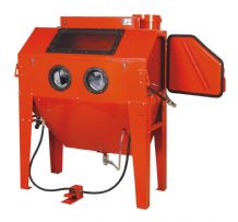 Large Foot Operated Sand Blast Cabinet with Built in Dust Extractor. SBC420